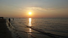 Tramonto  lignano Sabbiadoro Royalty Free Stock Photos