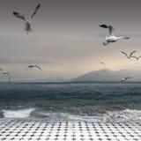 Tramonto surreale Fotografia Stock