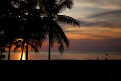 Tramonto in Tailandia immagine stock