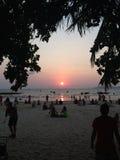 Tramonto in Tailandia Fotografie Stock