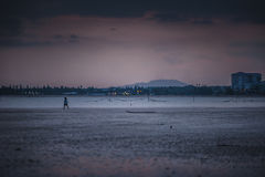 Tramonto a Teluk Sisek Fotografie Stock