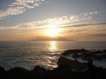 Tramonto a Tenerife del sud Fotografie Stock