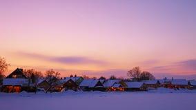 Tramonto in Trakai Fotografia Stock Libera da Diritti