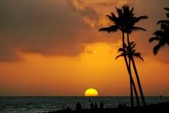 Tramonto tropicale fotografia stock libera da diritti