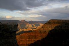 Tramonto uno del grande canyon Fotografia Stock Libera da Diritti
