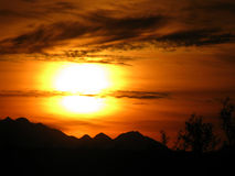 Tramonto v2 del deserto dell'Arizona Immagini Stock Libere da Diritti