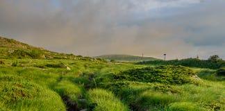 Tramonto vicino al picco nero /Cherni vrah/sulla montagna di Vitosha, Bulgaria Immagini Stock Libere da Diritti
