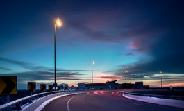 Tramonto vicino a Kuala Lumpur International Airport 2 Immagine Stock