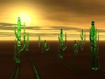 Tramonto virtuale del deserto Fotografia Stock Libera da Diritti