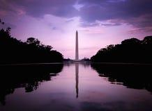 Tramonto a Washington Monument Fotografie Stock Libere da Diritti