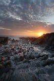 Tramonto Woolacombe   Costa del nord di Devon immagine stock libera da diritti