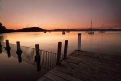 Tramonto a Yattalunga Australiia fotografia stock