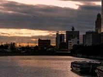 Tramonto a Yokohama immagini stock libere da diritti