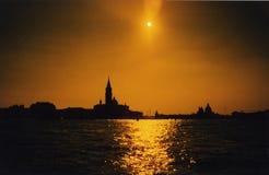 tramontovenezia Royaltyfri Fotografi
