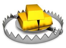 Trampa con oro Imágenes de archivo libres de regalías