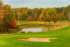 Trampa de agua del campo de golf Fotos de archivo