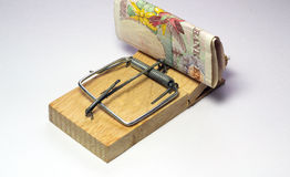 Trampa del dinero. Imagen de archivo libre de regalías