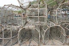 Trampa vieja de los pescados Imagen de archivo libre de regalías
