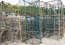 Trampa vieja de los pescados Imagen de archivo