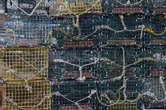 Trampas de la langosta Imagen de archivo libre de regalías