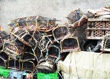 Trampas de los pescados Fotos de archivo libres de regalías