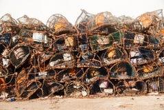 Trampas de los pescados Imagen de archivo libre de regalías