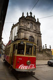 Trampeln Sie auf die Straße, Porto, Portugal Stockfotos