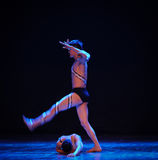 Trample-Errand into the maze-Modern dance-choreographer Martha Graham. In December 19, 2014, Shi Feifei the dancer dance work session held in the South hall. His Royalty Free Stock Image