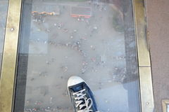 Trampling the world. Point of view from the Eiffel Tower Royalty Free Stock Images