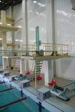 Trampolín de la piscina Foto de archivo