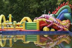 Trampolim inflável do  de Ð Fotos de Stock Royalty Free