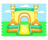 Trampolim inflável dos desenhos animados Imagens de Stock