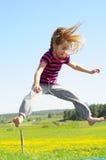 trampolinę dzieciaka. Zdjęcia Stock