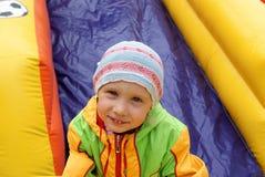 trampoline девушки Стоковое Изображение RF