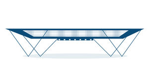 Trampoline. Blue trampoline, isolated, with shadow Stock Image
