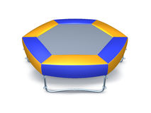 Trampoline. 3d image isolated on white. Background vector illustration