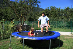 Trampoline Fun Stock Photography