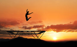 Trampoline gymnast Stock Photos