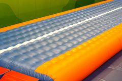 Trampoline. / Inflatable jumping place for kids stock image