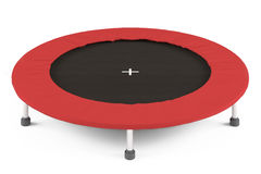 Trampoline isolated. At the white background Stock Images