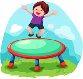 Trampoline jumping Stock Photography