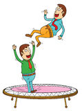 Trampoline time Royalty Free Stock Photo
