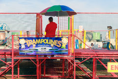 Trampolines at The Funfair on Brighton Pier Stock Photos