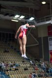 Trampolining Championship of women Stock Photos