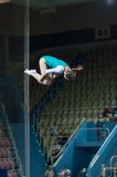 Trampolining Championship of women Royalty Free Stock Photos