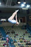 Trampolining Championship of women Royalty Free Stock Photo