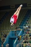 Trampolining Championship of women Royalty Free Stock Image