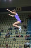 Trampolining Championship of women Stock Image