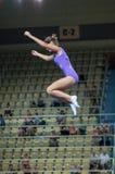 Trampolining Championship of women Stock Image
