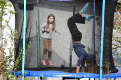 Trampolinists Royalty Free Stock Image